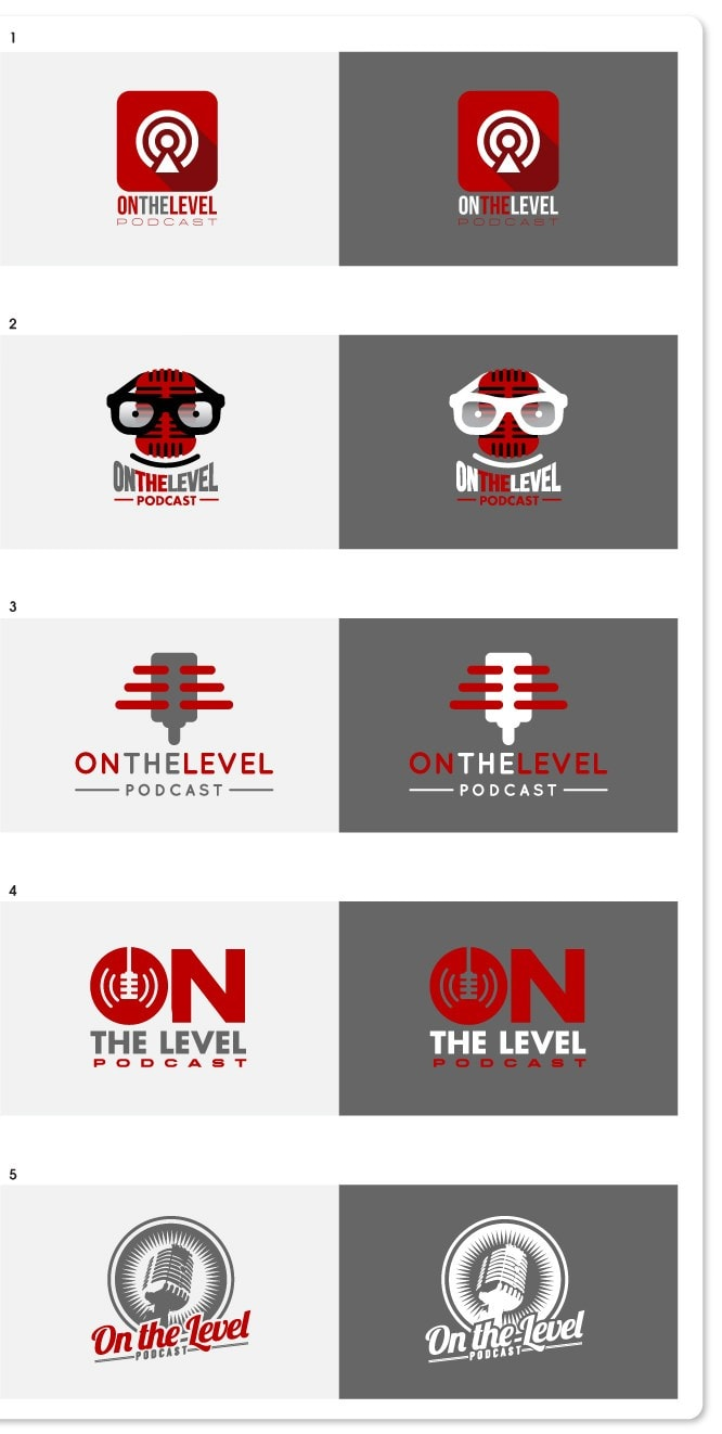 On the Level logo examples