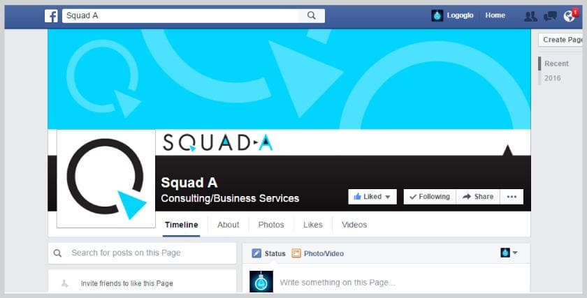 Squad-A Facebook page