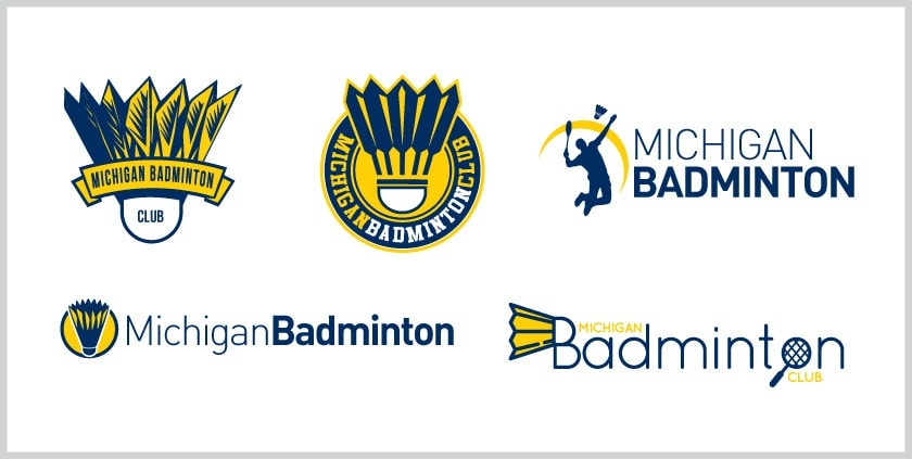 New Logo for Michigan University Badminton Club