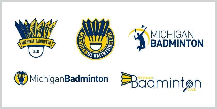 New Logo for Michigan University Badminton Club