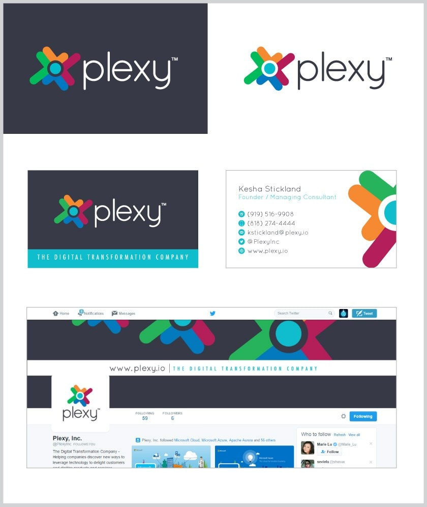 Plexy Logo Design