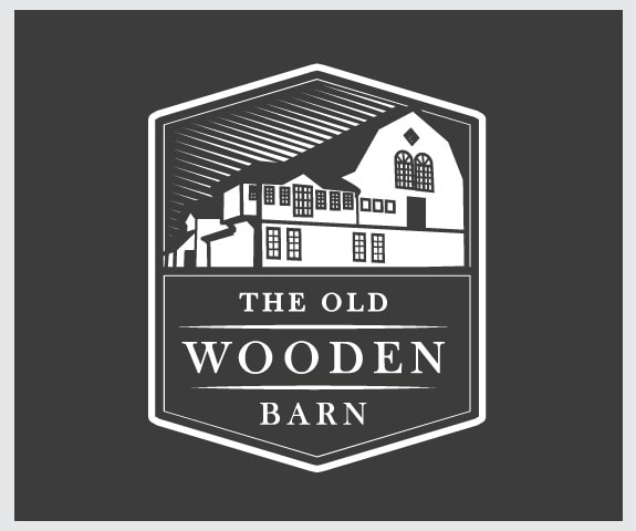 wooden barn logo design