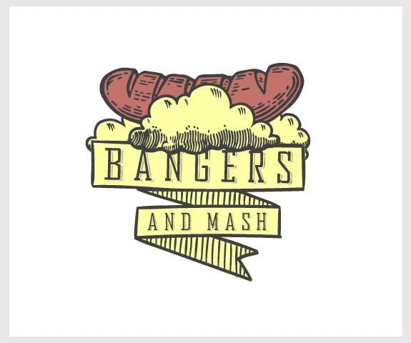 bangers and mash logo design