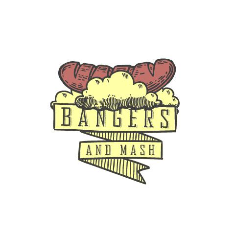bangers and mash logo design