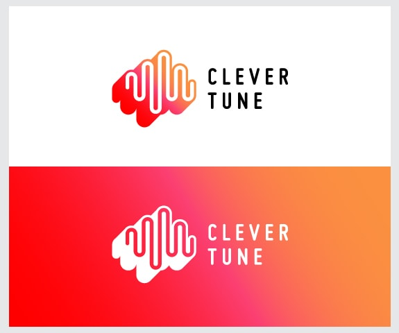 Music soundwave logo design