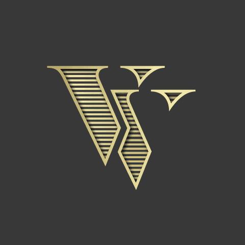 vv monogram logo design
