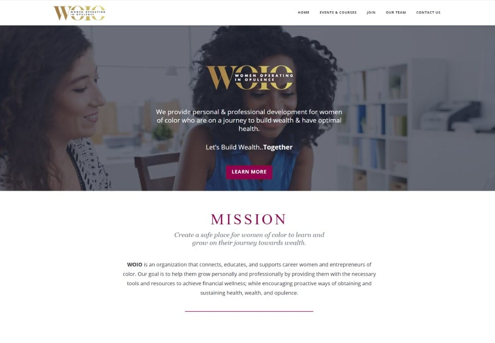 women operating in opulence, affordable website design
